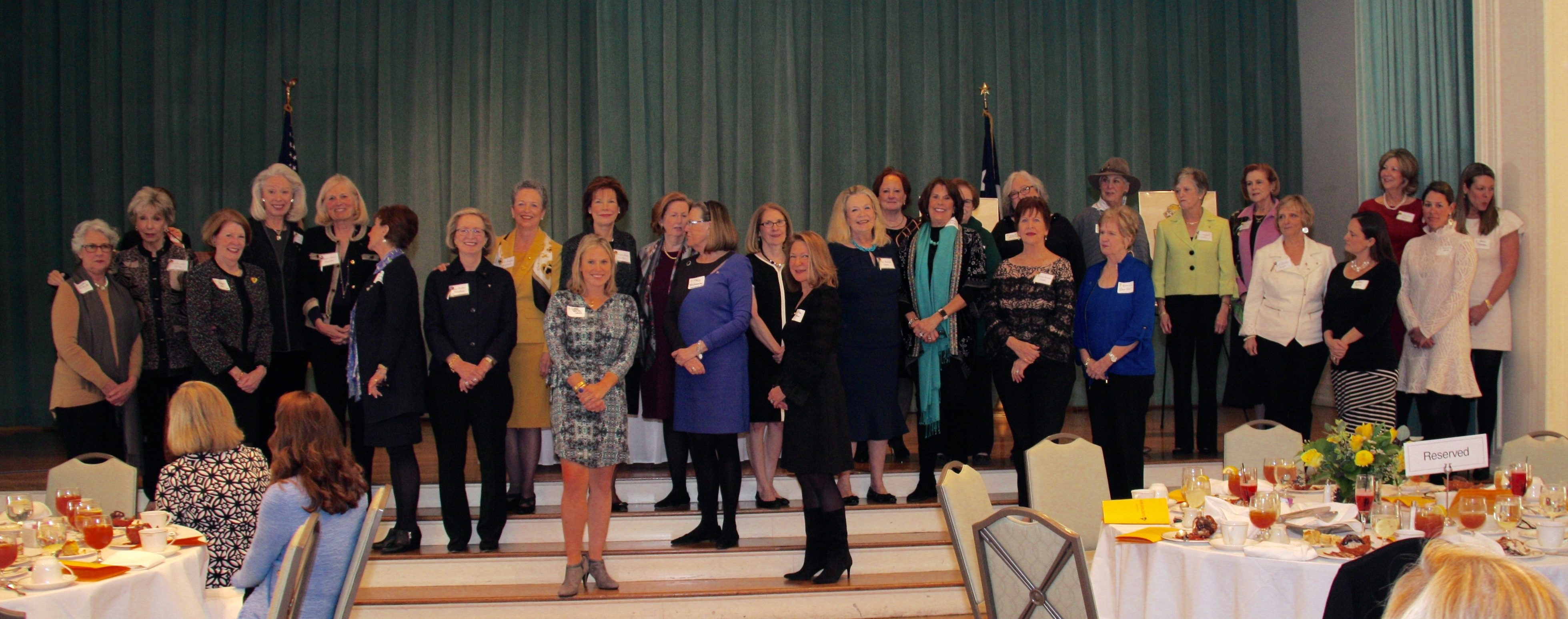 Our 15 Founders Day Honorees and their pinners!