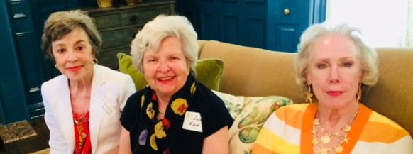 Joanne Malinak, Susie Bace, and Mary Ford find a comfortable couch at the Kite & Key Luncheon!