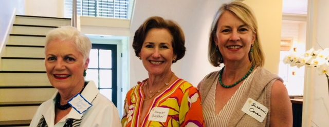 Margaret Buescher and Suzanne Caram chat with a Kappa friend (left) at the Kite & Key Luncheon.