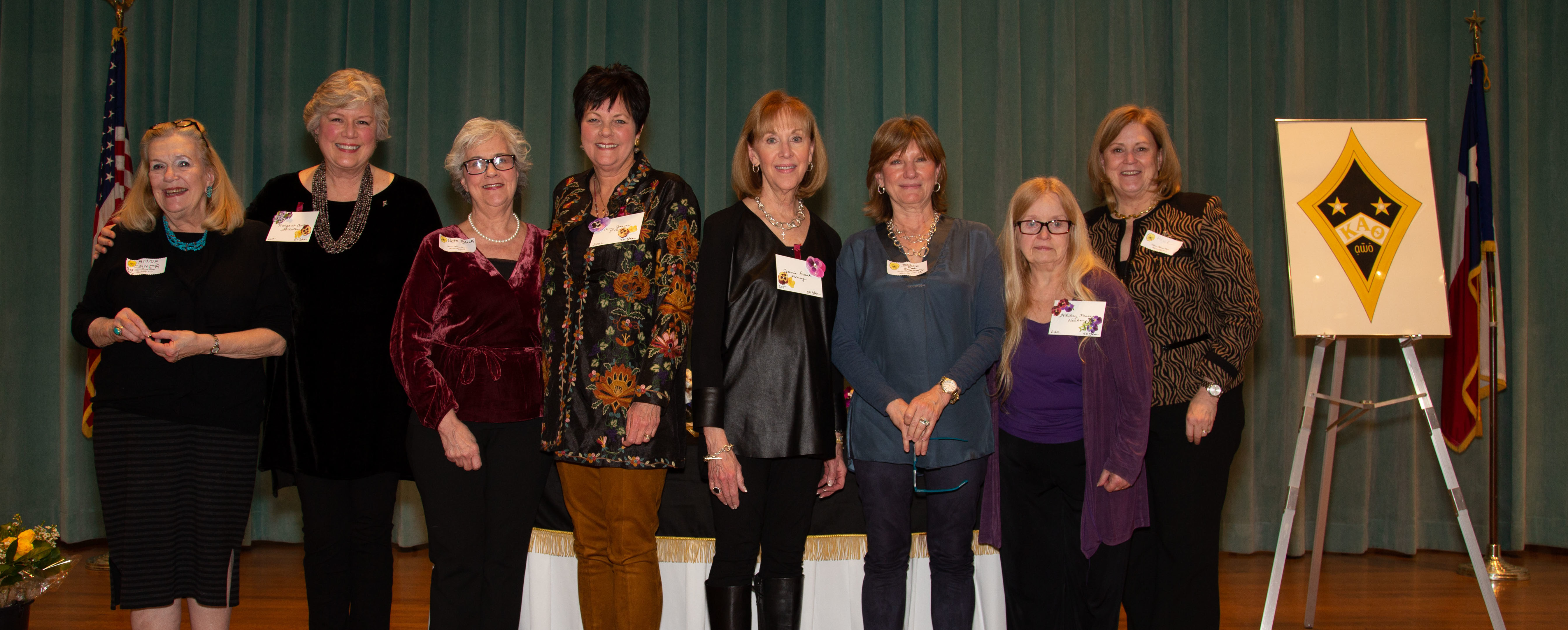 Founders Day Honorees and their pinners smile for Theta photographer Annette Boatwright!