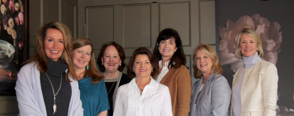 Incoming and outgoing board members at the February Meeting
